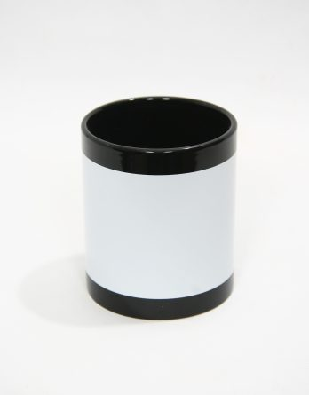 черна чаша с бяло поле за надпис
